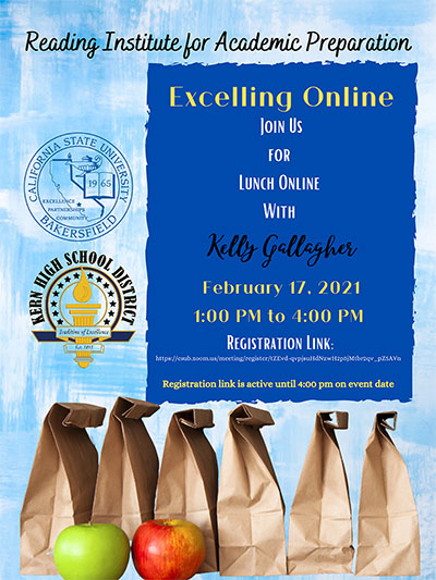 Download flyer for Kelly Gallagher, Feb. 17, FREE Virtual Event